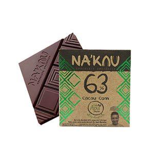 Chocolates Nakau 63% com Café Apui