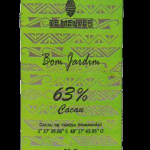 Chocolate ao leite de búfala 63% Cacau Bom Jardim - De Mendes