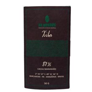 Chocolate Xiba 81% Cacau Maranhão Barcarena - PA - De Mendes