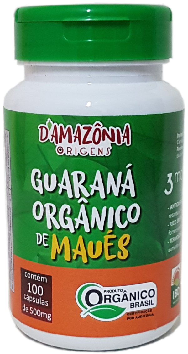Guaraná Orgânico de Maués - 100 cápsulas D'Amazônia